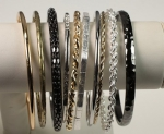 Bangle Bracelet Assortment<br>10 Pieces For