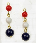 3-Bead Lucite Drop<br>1 Gross For
