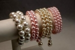 Memory Wire Pearl Bracelete Assortment<br>1 Dozen For