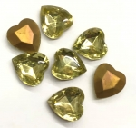 Glass Hearts<br>15 x 14mm<br>Gemstone Colors<br>1 gross for