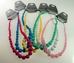 Graduated Lucite Necklaces<br>16 1/2 Inches long<br>1 Dozen For