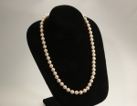 Imitation Pearl Necklaces<br>Glass 8MM Pearls<br>1 For