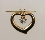 Cubic Zirconia  Heart Pendant<br>2 1/2 Dozen For