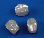 Pearlized Aurora Borealis Plastic bead<br>24 x 22mm<br>1 Pound For
