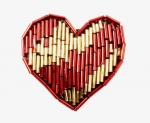 Beaded Heart Applique<br>1 Dozen For