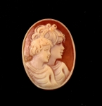 Genuine Shell Cameo<br>30mm x 22mm<br>1 For
