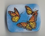 Metal Box with Hinge Lid ~ Butterflies.<br> 1/2  gross for