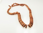 Graduated Palm Wood Necklace<br>10 For