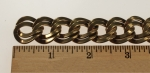 Raw Brass Double Curb Flat Wire Chain<br>33 feet for