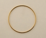 Gold Plated Metal Hoop<br>2 Sizes Available<br>72 Pieces For