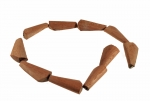 Rose Wood Bead<br>42mm x 10mm<br>10 Strands For