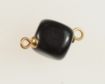 Black Horn 2 loop Beads<br>10mm x 10mm<br>100 For
