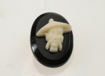 Oriental Man Glass Cameo<br>25 x 18mm<br>24 Pieces For