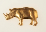 Brass Rhinoceros Stamping<br>72 Pieces For