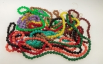 Mixed Rose Cut Plastic Beads<br>1 Pound For