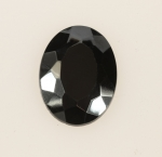 Faceted Glass Hematite<br>40mm x 30mm<br>12 Pieces For