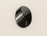 Faceted Glass Hematite<br>33mm x 24mm<br>10 Pieces For