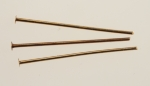Brass Head Pins<br>21 Gauge Wire<br>1 Inch long<br>500 For