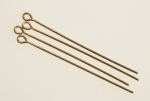 Brass Eye Pins<br>20 Gauge wire<br>3-5/8 inches long<br>500 For