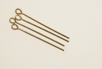 Brass Eye Pins<br>2-1/8 Inches long<br>21 Gauge wire<br>500 For