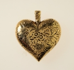 Puff Heart Pendant<br>35mm X 40mm<br>12 For