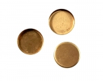 15MM Flat Back Brass Setting<br>2 Gross For