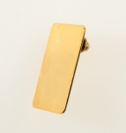Gold Plated Tie Tack Blank<br>3/4 Inches x 1 1/4 inches<br>100 For