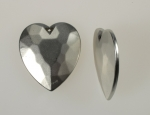 Plastic Heart Pendant<br>36mm x 32mm<br>3 Dozen For