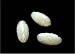 Carved Mother Of Pearl Cabochons<br>14mm x 7mm<br>72 Pieces For