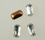 Glass Octagon<br>10mm x 5mm<br>Available In Crystal & Jet<br>2 Gross minimum