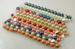 Glass Bead Mix<br>10 & 14mm<br>12 Strands For