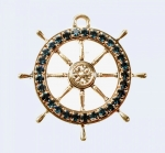Ships Wheel Pendant<br>10 For