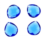 Briolette Drops<br>11mm x 10mm<br>Available In 16 Colors<br>1/2 Gross For
