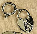 Plated Lock and Key Charm<br>1 gross for