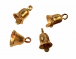 Small Bell charms<br>brass tone<br>1 gross for