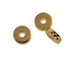 Plated Brass Rondell<br>6mm<br>1 Gross For