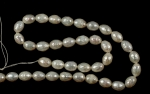 Fresh Water Pearl<br>Oval<br>16 Inch Strands<br>One Strand For