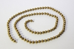 Brass Ball chain<br>15 inches w/ 4.5mm beads<br>1 dozen for