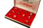 Fashion Ring Assortment<br>One Dozen<br>With Display Box<br>1  For
