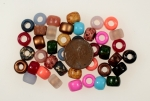 Large Hole Pony Bead<br>9mm<br>1 Pound For