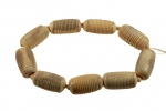 Ribbed Bone Bead<br>40mm x 20mm<br>1 Strand For