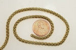 Brass Mesh Chain<br>4mm<br>21 Inches<br>24 For