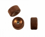 Brass Textured Bead<br>16mm x 9mm<br>50 For