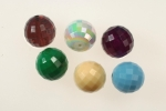 Faceted Plastic Beads<br>18mm<br>6 Colors Available<br>1 Pound For