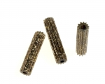 Glitter Bead<br>Available In Gold Or Silver Gliter<br>26mm x7mm<br>1 Pound For