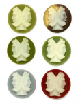Vintage Plastic Cameos<br>20mm<br>Available in 6 colors<br>1 gross for