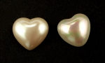 Pearl Heart Cabochon<br>18mm<br>1/2 Gross For