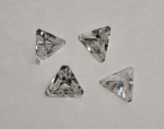 Cubic Zirconia Triangle<br>10mm<br>20 Pieces For