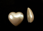 Pearl Heart Cabochon<br>20mm<br>1/2 Gross For