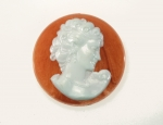 Plastic Cameo<br>Two Colors Available<br>45mm<br>72 Pieces For